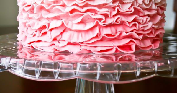 Perfect Pink Ruffle Cake!