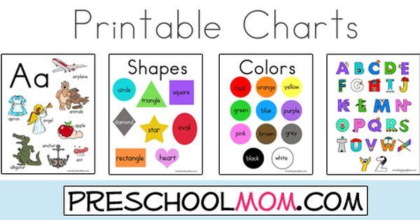Free Printable Classroom Charts From PreschoolMom.com