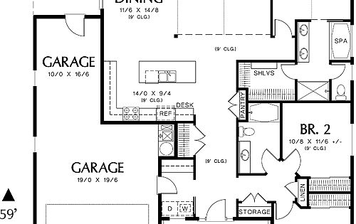 first floor plan image of morton house plan plan thd amd