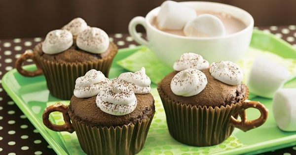 Hot Chocolate Cupcakes. From The Best Cupcake Recipes for Kids, cute hot