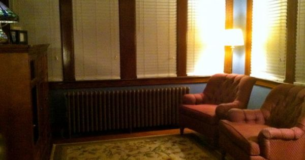 White Blinds With Brown Trim Google Search White Wood Blinds White Blinds Curtains Living Room