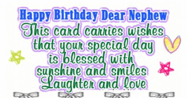 Cute Aunt And Nephew Quotes: Happy Birthday Nephew Quotes From Uncle And Aunt
