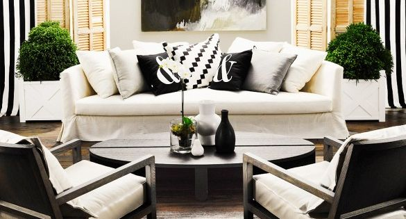 This is how the experts style monochrome at home creativity striped