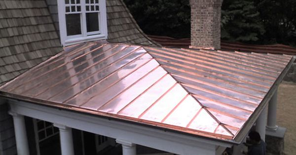 Copper Roof On Porch Photo Standing Seam Copper Porch Roof Phillips Metal Works Copper Roof Porch Colonial Exterior Copper Roof