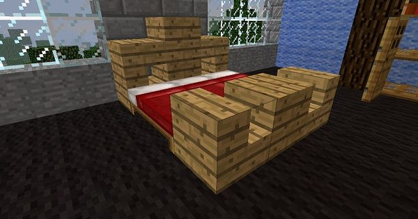 A nice bed for minecraft using the actual beds for How to make a bed nicely