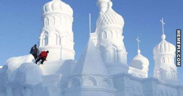 China's Snow World Festival 2012 in Jingyuetan Park in Changchun, Jilin Province,