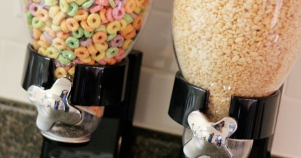 cereal dispensers...because we all want to feel like our kitchen is the