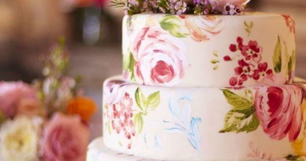 Gorgeous Handpainted Cake