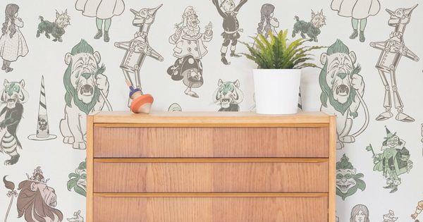 wizard of oz wallpaper mural shops wizard of oz. Black Bedroom Furniture Sets. Home Design Ideas