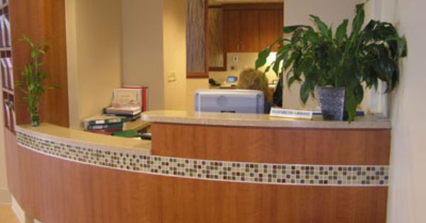 Reception Counter With Mosaic Tile. Reception DesignReception AreasOffice  ...