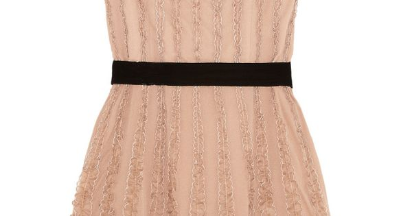 blush and ruffly - cute idea for rehearsal dress @Brittney Anderson Anderson