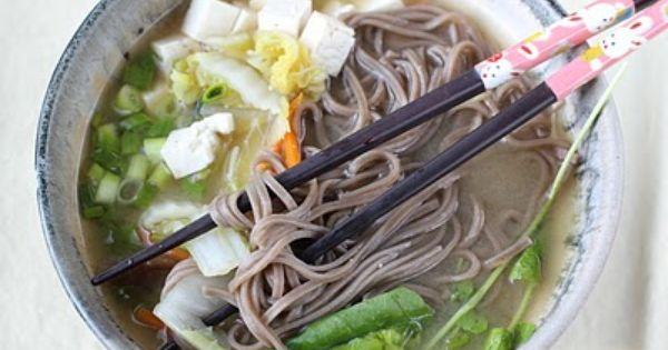 ... Soba Noodles | soup | Pinterest | Healthy Girls, Miso Soup and Soba