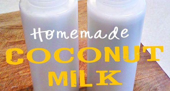 Tutorial and recipe for DIY, homemade Coconut Shampoo: 1/4 cup coconut milk,