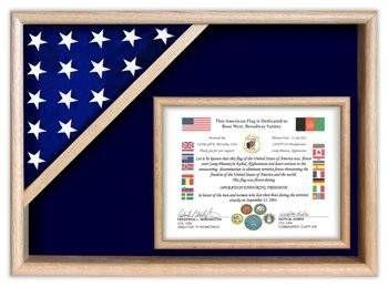 Certificate Flag Shadow Box