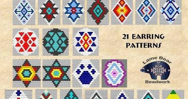 Book of Patterns 1 21 projects Brick Stitch Seed Bead Earrings