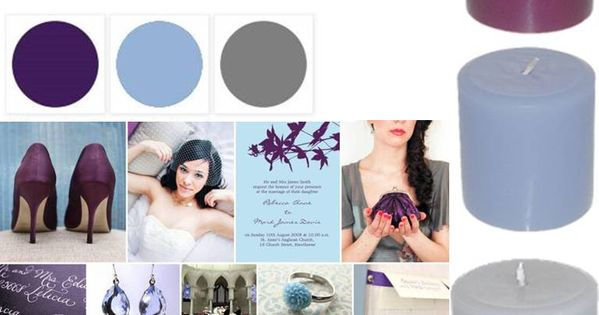 plum, powder blue & gray color palette.