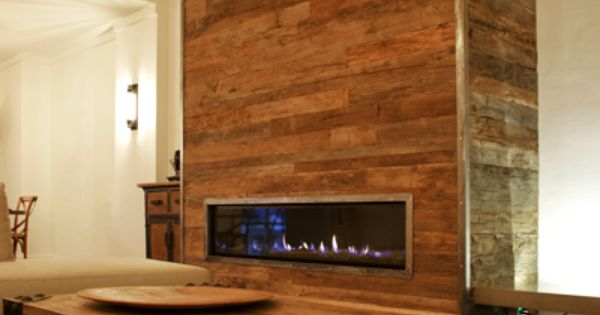 Fireplace and living room featuring recycled french oak for Recycled living room ideas