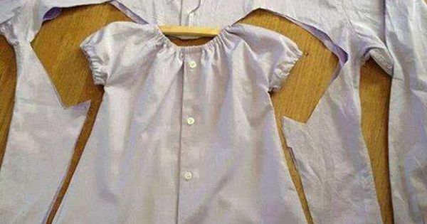 DIY Baby Girl Dress From A Men's Shirt - Find Fun Art