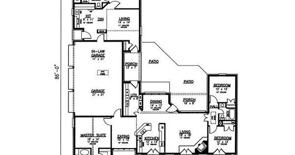 Multi generational floor plan the home multigenerational for Multigenerational floor plans