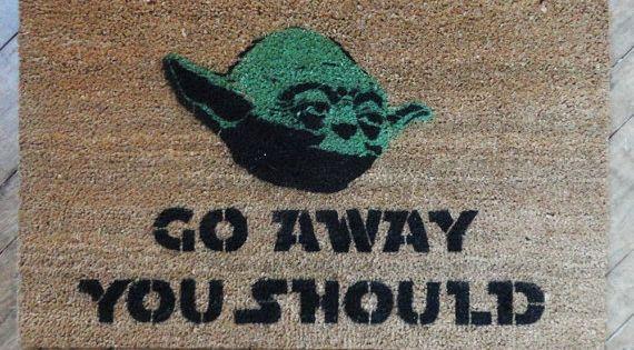 Star Wars -Yoda door mat -go away, you should doormat -geek stuff