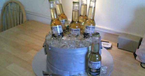 21st Birthday Cake - Corona