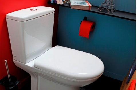 10 couleurs pour la d co des toilettes peinture rouge bleu canard et canards. Black Bedroom Furniture Sets. Home Design Ideas