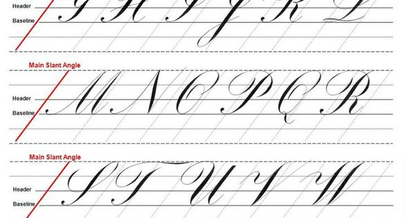 Copperplate guidelines  pinterest