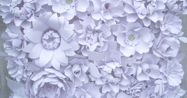 The Peony Handmade Paper Flower White by DragonflyExpression