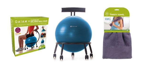Custom-Fit Balance Ball Chair by Gaiam. WANT!