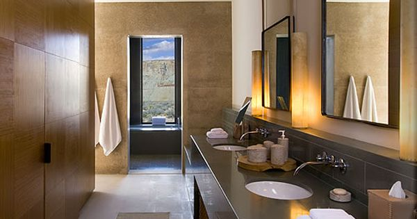 Fascinating Resort and Spa for Your Family : Appealing Powder Room With