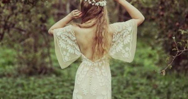 Robe de mariée boho / hippie chic - Inspiration pour un mariage ...
