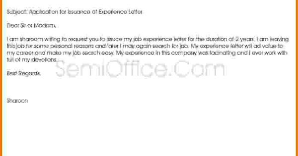 letter sample application for issuance experience letterg - financial statement form