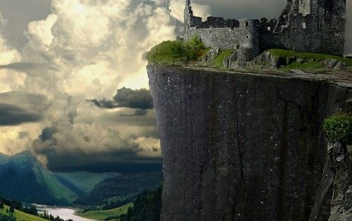 Cliff Castle Ruins, Germany. Oh wow never thought much of Germany but