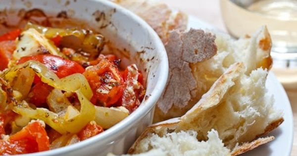 Bouyiourdi | Recipe | Feta, Tomatoes and Roasted Tomatoes