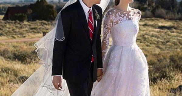 La robe de mariée Oscar de la Renta d'Allison Williams  Oscar de ...