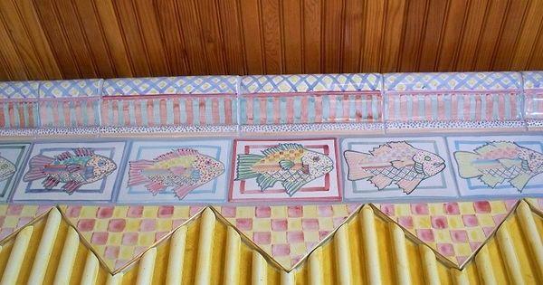 Creative art photos on webshots bathroom wall border in for Mackenzie childs fish rug