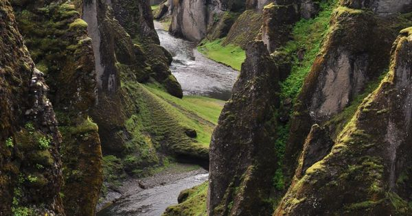 Fjadrargljufur, Iceland, Amazing Places Around the World iceland island reisjunk travel world