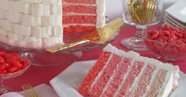 Pink Ombre Cake: pick up 3 boxes of white cake mix along