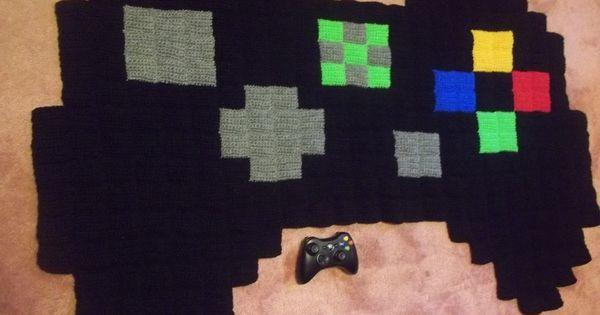 Giant 8 bit xbox controller rug via etsy Controller rug