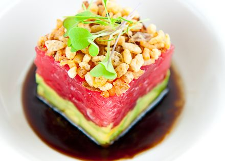 Ahi Tuna Tartare w/ Avocado, Crispy Shallots & Soy-Sesame Dressing ...