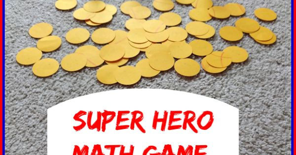 Super Hero Math Game: Catch a Villain - Practice number recognition, counting,