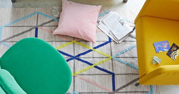 Eker f t lj rosa kudde smaragdgr n stockholm f t lj for Ikea sofa rosa