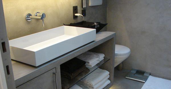 Transformation salle de douche meuble sol mur cabine - Sol beton cire leroy merlin ...