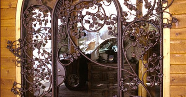 Wrought iron door- My future front door.