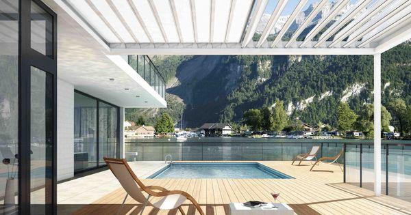 Bilder und referenzen fledmex lamellendach f r unterschiedliche montagesituationen terrasse - Balkon arbor ...