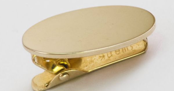 Vintage Tie Clip  Classic Reflective Gold Tone by CuffsandClips, $14.00