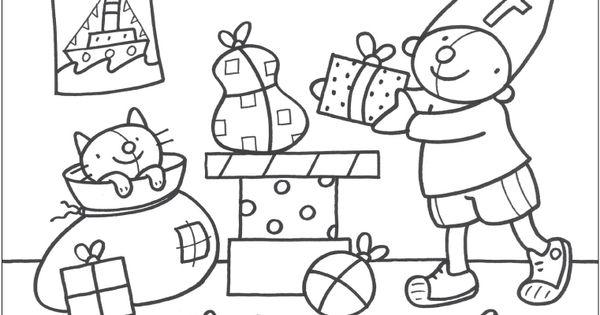Kleurplaat Pompom Sinterklaas Thema Sinterklaas