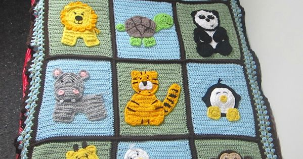 Baby Zoo Afghan Crochet Pattern : Zoo Blanket: crochet animal applique patterns available ...