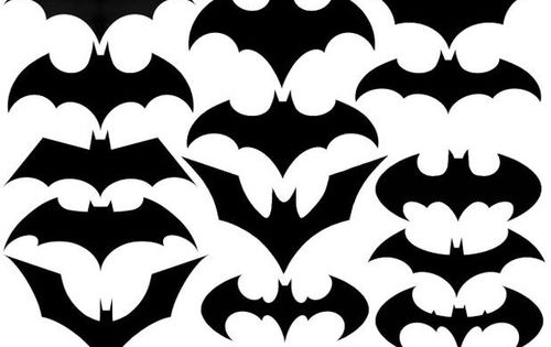 The evolution of the Batman symbol. Maybe an idea for our new