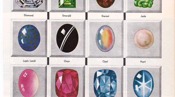 Rare and Precious Stones, this is a good source for vintage illustrations,